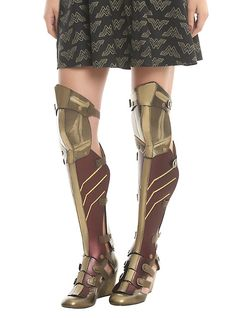 DC Comics Wonder Woman 3-Piece Cosplay Wedge Boots, MULTI