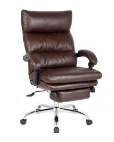 Flash Furniture High Back Brown Leather Executive Reclining Office