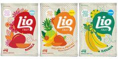 Lovely pattern and illustrations by designer/illustrator Bel Andrade Lima for Lio Fruit.