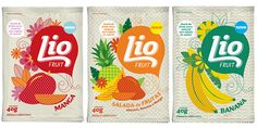 patterned Lio Fruit packaging