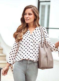 b214077f16fec Petite Blush Spot Tie Sleeve Top - View all Petite Clothing - Shop By Fit -