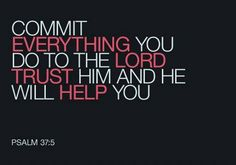 Ask for help ask guidance Psalm 25:4 Trust God  Prov3:5-6