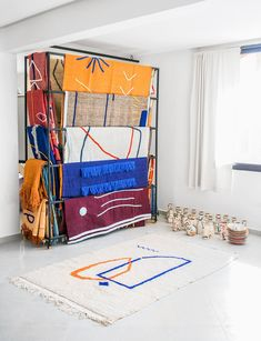 LRNCE design made in Maroc - Le showroom / studio de Marrakech Design Textile, Tapis Design, Home Textile, Design Art, Interior Design, Turbulence Deco, Decor Scandinavian, Textiles, Parasol