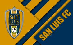 Download wallpapers San Luis FC, 4k, Mexican football club, San Luis Potosi, Mexico, material design, logo, emblem, geometric background, abstraction, football, Liga MX, Mexican football league system