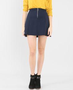 Jupe zippée - On craque pour le style rétro et féminin de la jupe.