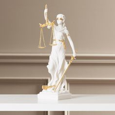 Found it at Wayfair - Marcella Bonded Marble Themis Blind Justice Figurine
