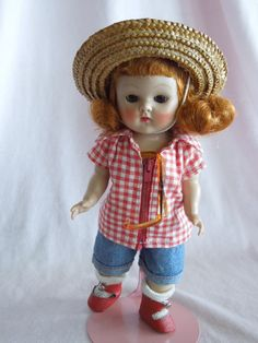 1953 Vogue Ginny Talon Zipper Farm Girl Doll