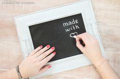 Shabby Chic Interiors tutorial una cornice per vassoio