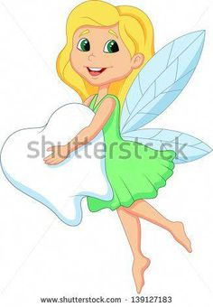 Illustration of Cute Tooth Fairy cartoon flying with Tooth vector art, clipart and stock vectors. Tooth Fairy Pictures, Cute Tooth, Dental Art, Dental Kids, Teeth Care, Healthy Teeth, Healthy Life, Oral Health, Dental Health