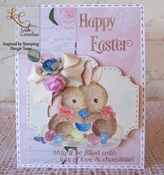 Inspired by Stamping, Leah Cornelius, Easter Bunnies stamp set, Easter card