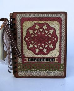 mini book with envelopes Spellbinders die called Celtic Accents