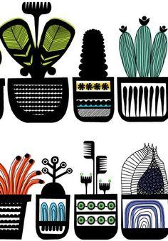 Illustration by Stephen Crowhurst (via Print & Pattern) #StephenCrowhurst #cactus #flora
