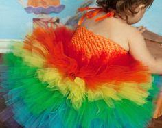 Arco iris Vestido de tutú tutú arcoiris por WillowLaneCostumes