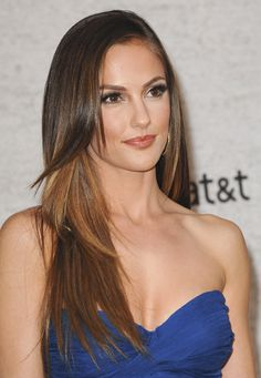 Minka Kelly - beautiful summer hair color and cut.