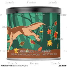 Autumn Wolf Hot Chocolate Drink Mix #wolf #wolves #autumn #fall #animals