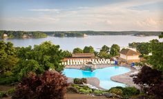 Rachel: Loving The Lodge of Four Seasons at Lake of the Ozarks in Missouri for a wedding venue. Gorgeous scenery, rooms for guests, and lots of things to do whether you're outdoorsy or like to be pampered or both, like me! =)