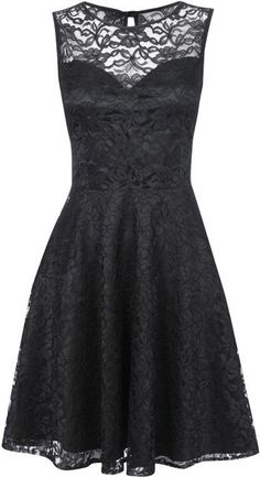 Black lace dress - so pretty <3