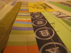 Sewn paper strips Laurel Holmes