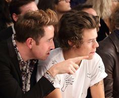 Harry Styles and Nick Grimshaw