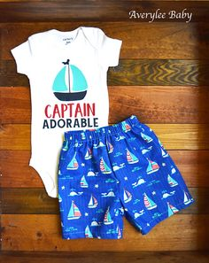 Sailboat Onesie® Sailor Bodysuit Captain Adorable Onesie®