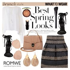 """""""Brunch Style with Romwe ♥"""" by av-anul ❤ liked on Polyvore featuring Chloé, Schutz, Alexis Bittar, H&M, Aspinal of London, Physicians Formula, Maybelline, NARS Cosmetics, Victoria Beckham and romwe"""