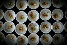 Banh Beo, vietnamese rice cake with dried shrimps.