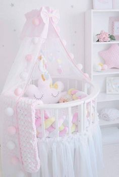 New Baby Room Decoration Ideas Baby Nursery Decor, Baby Bedroom, Baby Decor, Nursery Room, Girl Nursery, Girl Room, Kids Bedroom, Baby Pillows, Kids Pillows