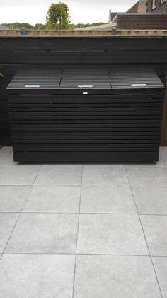Recycling Storage, Storage Bins, Garbage Storage, Shed With Log Store, Triple Wheelie Bin Storage, Victorian Front Garden, Bin Shed, Garbage Shed, Grant House