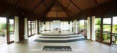This hidden retreat venue is far away enough from the busy center of Ubud, while still offering the peaceful settings of the neighboring river and jungle. Ubud Resort, Bali Yoga, Yoga Retreat, Free Time, Far Away, Gazebo, Meditation, Outdoor Structures, River