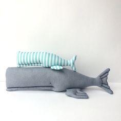 Whale toy, nautical Plush toy. Grey stuffed whale, cute toy Child friendly. Soft…