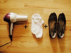 Break in shoes in advance of the day (for yourself and the bridal party) with a blowdryer. | 19 Wedding Planning Hacks That Will Save You So Much Time And Money