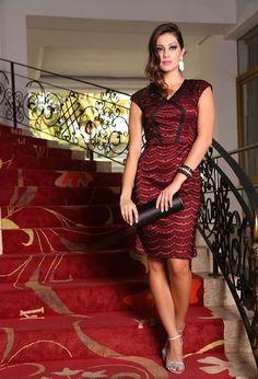 NK5138 - Vestido Cetim Renda - Lara Bless - A Loja da Mulher Cristã