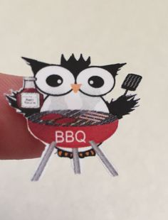 Planner stickers Owl BBQ Barbecue fits Erin by sisscreations