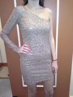 'ARK & CO.' One Sleeve Sequence Dress $84
