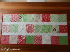 free motion quilted table runner