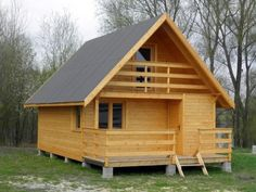 Tiny House Hotel, Tiny House Cabin, Modern Bungalow House, Modern Tiny House, Bamboo House Design, Small House Design, Village House Design, Village Houses, A Frame House Plans