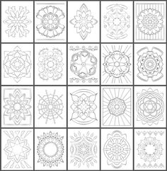 Simple mandala coloring page designs printed on artist quality paper. Mandala Coloring Pages, Adult Coloring Pages, Coloring Books, Simple Mandala, Paper Stand, Islamic Patterns, Light Texture, Zentangle Patterns, Mandalas