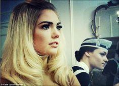 Kate Upton Finally Styled As Brigitte Bardot - The Cut Black Roots Blonde Hair, Bleach Blonde Hair, Bardot Hair, Tousled Hair, Black Lace Bra, Sexy Makeup, Vogue Covers, Brigitte Bardot, Girl Next Door
