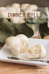 the baker upstairs: quick and easy dinner rolls