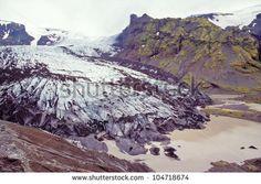 Steinholtsjokull an outlet glacier on the northern margin of Eyjafjallajokull, Iceland