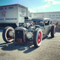 This cool #RatRod was shared by our friend @jefflee as he took part in the Hot Rod Power Tour.
