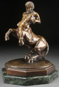 """German bronze, """"The Centaur,"""" Franz Nachtmann."""