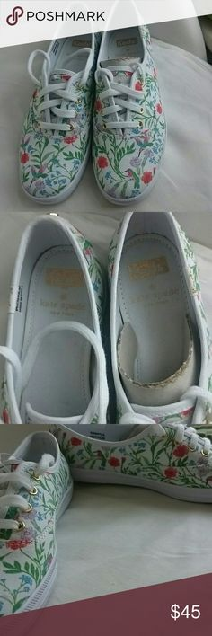 NWOT Kate Spade for Keds Brand new, got from charity event. It's sample for new.collection.doesn't have the size info but I measured the bottom is 9.5 inch I think is size 6.please check the measurements. kate spade Shoes