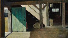 Eric Sloane (1905-1985) The Green Door 15 1/2 x 27in overall: 22 x 33in