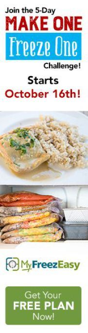 Join the Free challenge October Make a Meal, Freeze the Same Meal ~ A Freezer Meal Challenge! Bulk Cooking, Freezer Cooking, Freezer Meals, Cooking Recipes, Easy Weeknight Meals, Easy Meals, New Recipes, Dinner Recipes, Grocery Savings Tips
