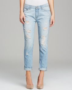 Paige Denim Jeans - Jimmy Jimmy Skinny Naomi Destructed | Bloomingdale's