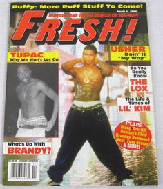 Fresh Hip Hop Music Magazine April 1998 Usher Tupac 2Pac Destinys Child Aaliyah
