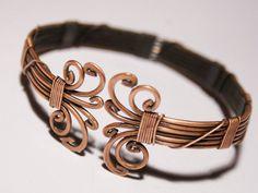 Copper Bracelet For Men Mens Copper Bracelet Copper Mens | Etsy Wire Jewelry Rings, Copper Wire Jewelry, Handmade Jewelry Bracelets, Copper Cuff, Copper Bracelet, Bracelets For Men, Bracelet Men, Wire Necklace, Jewlery