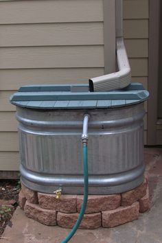 Rain Barrelcountryliving. Rain Barrel Reduce your water bills by installing a barrel to collect rain water to douse your garden.  Get the tutorial at The Bicycle Garden.