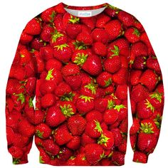 Strawberry Summers Sweater Nothing goes together like summer and strawberries. Luckily you can have it all with this delicious-looking sweater. Everyone will be jelly of your strawberry jammin' outfit! Strawberry Summer, Summer Sweaters, Drip Dry, Warm And Cozy, Cucumber, Raspberry, Veggies, Fruit, World's Biggest